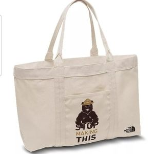 North face  bottle source rainy day ivory  tote